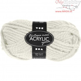 Fantasia Acrylic Yarn, L: 35 m, off-white, Maxi, 50g