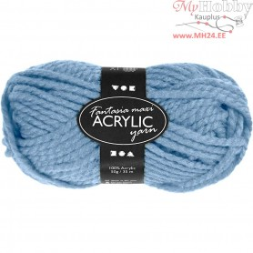 Fantasia Acrylic Yarn, L: 35 m, light blue, Maxi, 50g