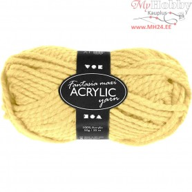 Fantasia Acrylic Yarn, L: 35 m, light yellow, Maxi, 50g