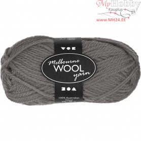 Melbourne Yarn, L: 92 m, grey, 50g