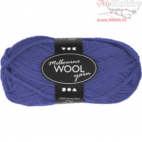 Melbourne Yarn, L: 92 m, blue, 50g
