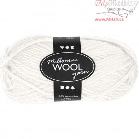 Melbourne Yarn, L: 92 m, off-white, 50g