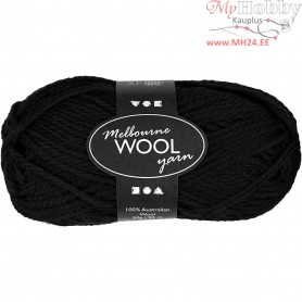 Melbourne Yarn, L: 92 m, black, 50g