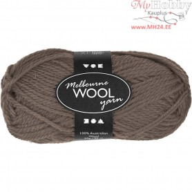 Melbourne Yarn, L: 92 m, grey brown, 50g