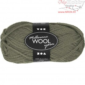 Melbourne Yarn, L: 92 m, dark green, 50g