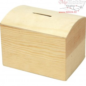 Money Box, size 10x8x7 cm, pine, 1pc