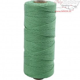 Cotton Twine, L: 315 m, thickness 1 mm, light green, Thin quality 12/12, 220g