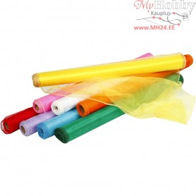 Organza Fabric, W: 50 cm, asstd colours, 8x10m
