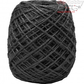 Natural Hemp, thickness 1-2 mm, black, 150m