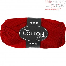 Mercerized Cotton Yarn, L: 165 m,  6S/4 , red, 50g