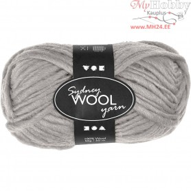 Sydney Yarn, L: 50 m, light grey, 50g