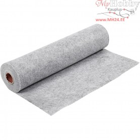 Craft Felt, W: 45 cm, thickness 1,5 mm, grey, textured, 5m, 180-200 g/m2
