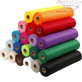 Craft Felt, W: 45 cm, thickness 1,5 mm, 20x5m, 180-200 g/m2