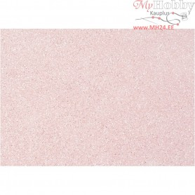 Craft Felt, A4 21x30 cm, thickness 1 mm, rose, silver glitter sprinkle, 10sheets