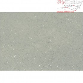 Craft Felt, A4 21x30 cm, thickness 1 mm, grey, silver glitter sprinkle, 10sheets