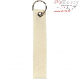 Key Chain, size 3x15 cm, thickness 3 mm, off-white, 4pcs