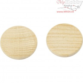 Wooden buttons, D: 15 mm, thickness 3 mm, china berry, 250pcs