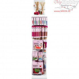 Knitting, Crocheting and Weaving Tool Display, excluding display, 214sales units