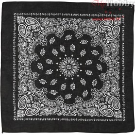Printed Bandana, size 55x55 cm, black, 1pc