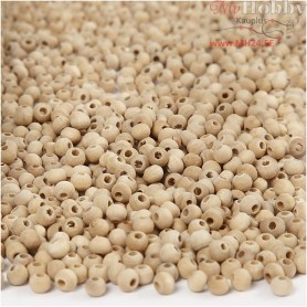 Wooden Beads, D: 5 mm, hole size 1,5 mm, china berry, 500pcs