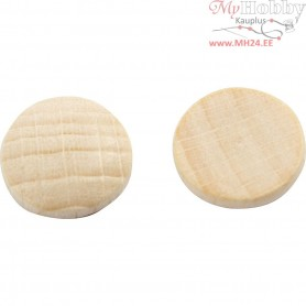 Wooden buttons, D: 12 mm, thickness 3 mm, china berry, 300pcs