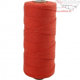 Cotton Twine, L: 315 m, thickness 1 mm, orange, Thin quality 12/12, 220g