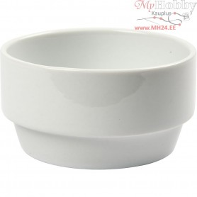 Bowl, D: 10,5 cm, H: 5,5 cm, white, 6pcs