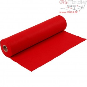 Craft Felt, W: 45 cm, thickness 1,5 mm, red, 5m, 180-200 g/m2