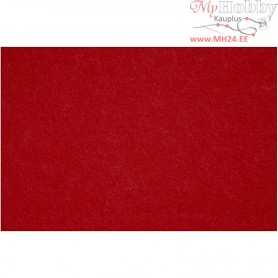 Craft Felt, sheet 42x60 cm, thickness 3 mm, christmas red, 1sheet