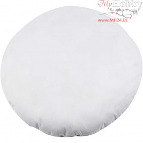 Stuffed Pillow, D: 40 cm, white, 190 g polyester stuffing, 1pc