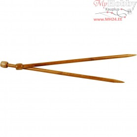 Knitting Needles, size 10 , L: 35 cm, 1pair