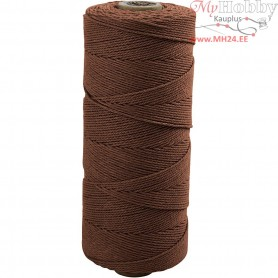 Cotton Twine, L: 315 m, thickness 1 mm, brown, Thin quality 12/12, 220g
