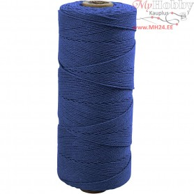 Cotton Twine, L: 315 m, thickness 1 mm, blue, Thin quality 12/12, 220g