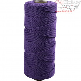 Cotton Twine, L: 315 m, thickness 1 mm, violet, Thin quality 12/12, 220g