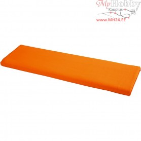 Fabric, W: 145 cm,  140 g/m2, orange, 10m
