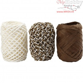 Paper Cord, thickness 1 mm, beige/brown harmony, 3x10m