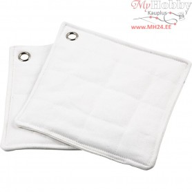Pot Holders, size 22x22 cm, white, 2pcs