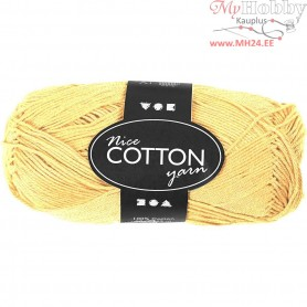 Mercerized Cotton Yarn, L: 165 m,  6S/4 , yellow, 50g