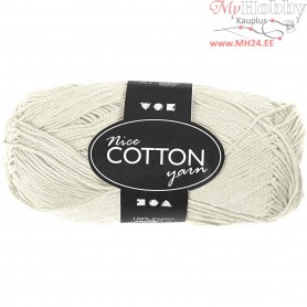 Mercerized Cotton Yarn, L: 165 m,  6S/4 , off-white, 50g