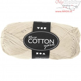 Mercerized Cotton Yarn, L: 165 m,  6S/4 , beige, 50g