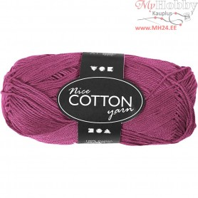 Mercerized Cotton Yarn, L: 165 m,  6S/4 , violet, 50g
