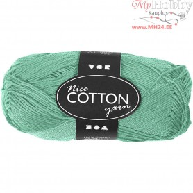 Mercerized Cotton Yarn, L: 165 m,  6S/4 , green, 50g