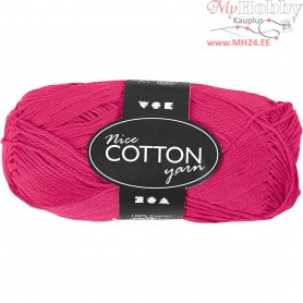 Mercerized Cotton Yarn, L: 165 m,  6S/4 , pink, 50g