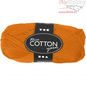 Mercerized Cotton Yarn, L: 165 m,  6S/4 , orange, 50g
