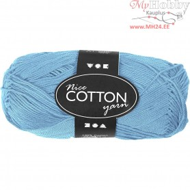 Mercerized Cotton Yarn, L: 165 m,  6S/4 , turquoise, 50g