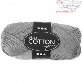 Mercerized Cotton Yarn, L: 165 m,  6S/4 , grey, 50g