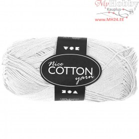 Mercerized Cotton Yarn, L: 165 m,  6S/4 , white, 50g