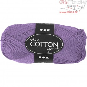 Mercerized Cotton Yarn, L: 165 m,  6S/4 , purple, 50g