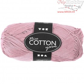Mercerized Cotton Yarn, L: 165 m,  6S/4 , antique pink, 50g
