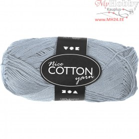 Mercerized Cotton Yarn, L: 165 m,  6S/4 , light blue, 50g